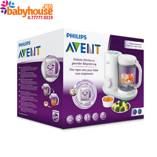 may xay hap thuc an philips avent 2 in 1